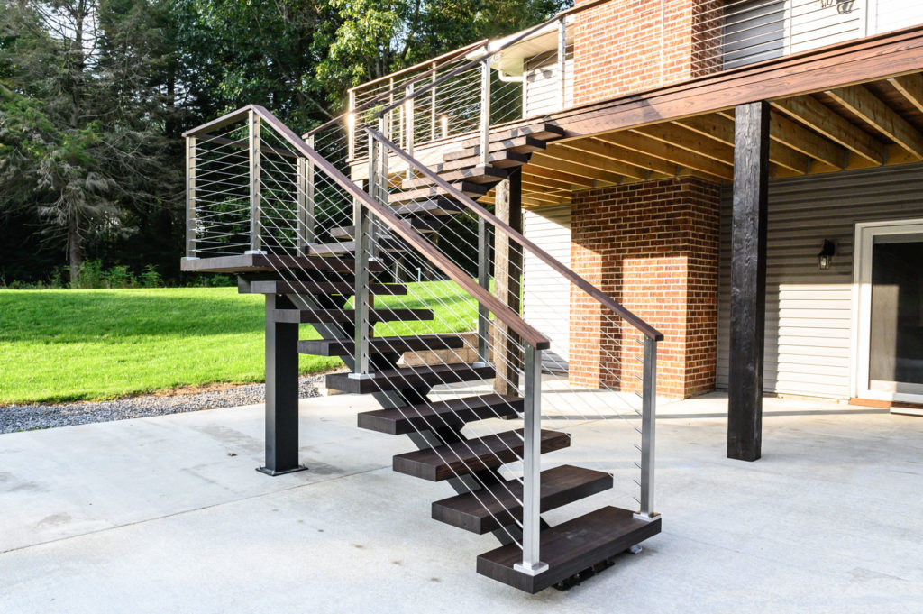 Paralux cable railing with stainless steel posts